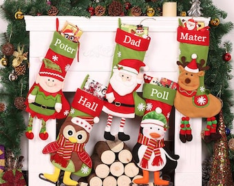 Personalized christmas stocking holidays Decoration snowman