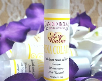 PINA COLADA ~ Lip Balm , Natural ingredients with Almond oil, Coconut oil, Shea Butter