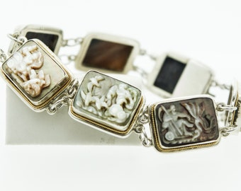 A Mother of Pearl and Silver Bracelet  SKU 677