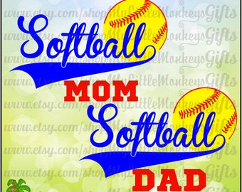 Softball SVG ~ Softball Mom SVG~ Softball Dad svg ~ Softball Decal ~ Softball Shirt ~  Commercial Use SVG ~ Clip Art ~ Cut File eps dxf png