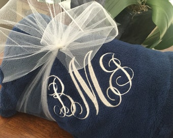Monogrammed Throw Monogrammed Blanket Personalized Monogrammed Sorority Gift Birthday Gift Wedding Gift Embroidered Monogrammed Gift