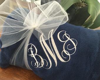 Monogrammed Throw Monogrammed Blanket Personalized Monogrammed Sorority Gift Birthday Gift Wedding Gift Embroidered Monogrammed Gift