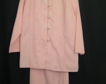 Coral 2pcs  jacket & skirt set #2256