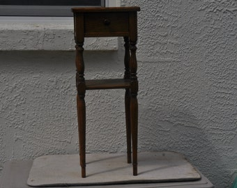 Old Hardwood Smoking Stand