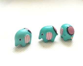 10pcs 14*19mm resin cute elephant Mini nature  Figurine /Terrarium Figurine 062