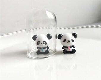 10pcs 15mm lovely small resin panda Mininature Figurine/Terrarium Figurine