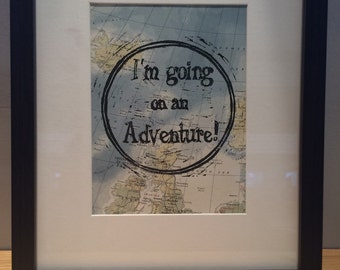 I'm Going On An Adventure! Linocut Print