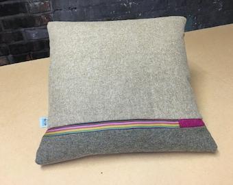 Signature Colour Block Cushion - Horizontal Stripe