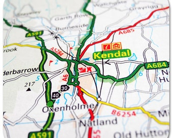 Kendal Map Coasters