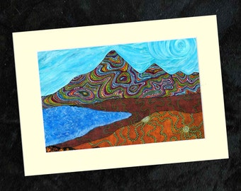 Mournes Mounted Print