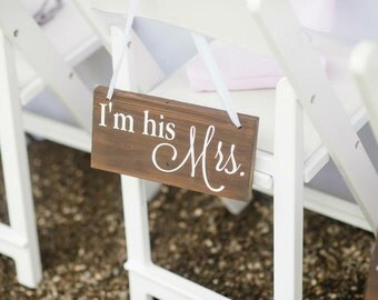 Mr. and Mrs. Wooden Chair Signs- Wedding Bride/Groom