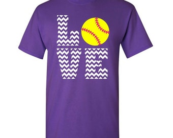 Love Softball Chevron T-shirt - Softball T-shirt - Softball Player t-shirt