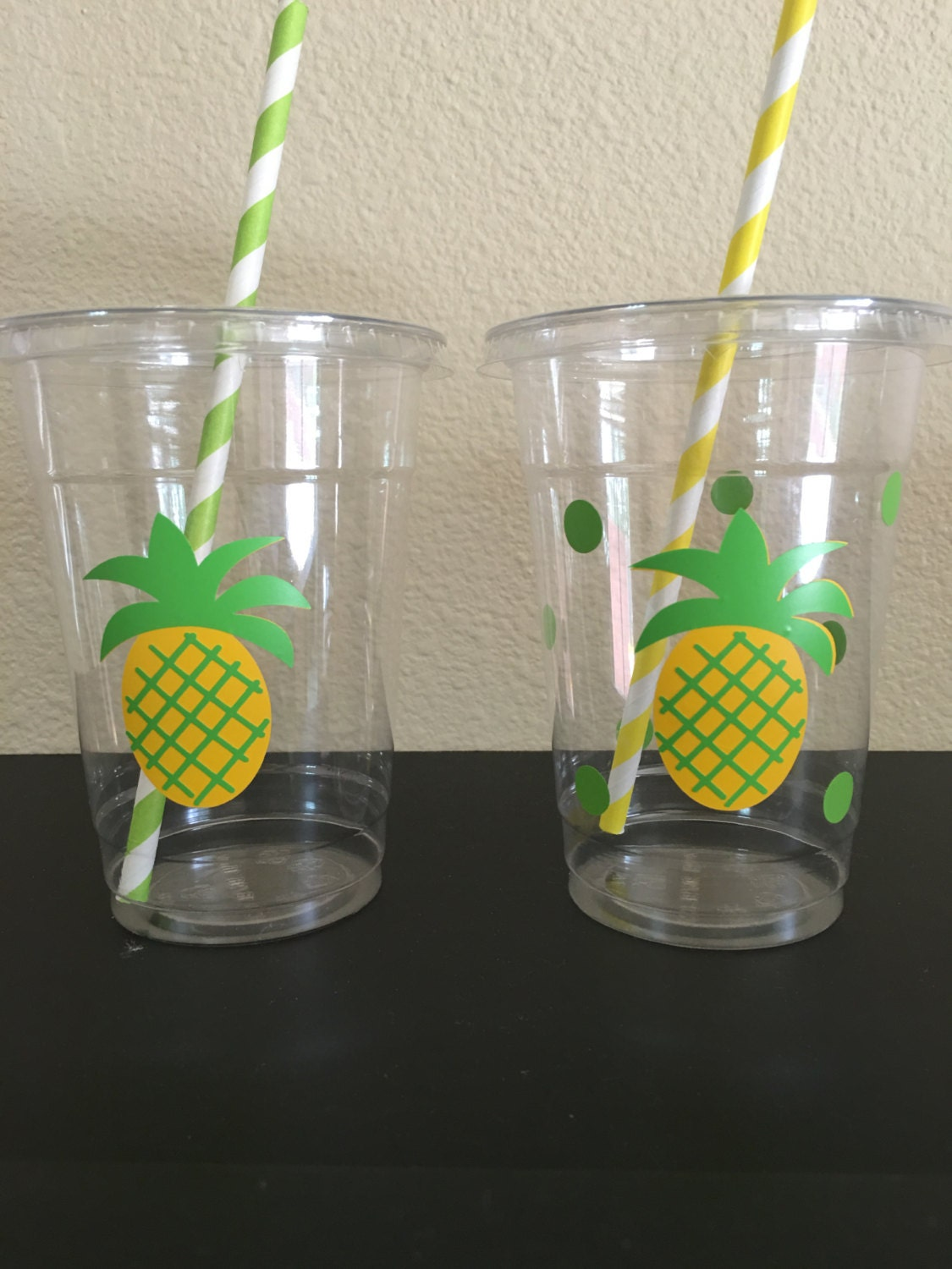 Pineapple Party Cups Pineapple Birthday Party Cups