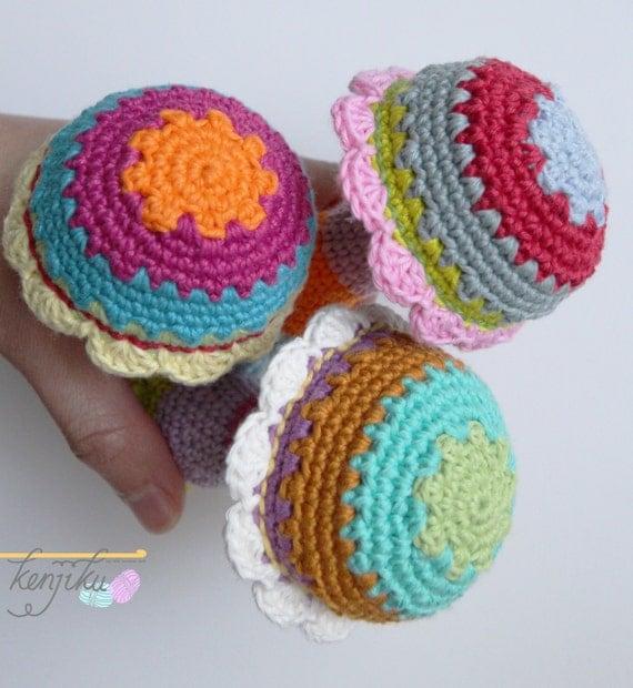 Diy Free Crochet Pattern For Baby Rattles : Mushroom Baby Rattle,Crochet Pattern,DIY,Baby Rattle DIY ...