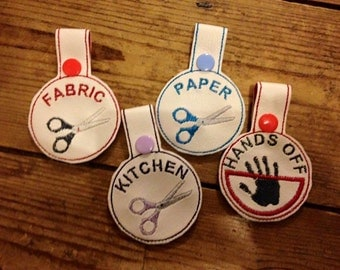 4 pack Scissor Identification tags