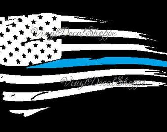 Thin Blue Line Decal, Blue Line Flag, Thin Blue Line Flag, Police Decal, Police Lives Matter, Thin Blue Line, Blue Line Car Decal, police