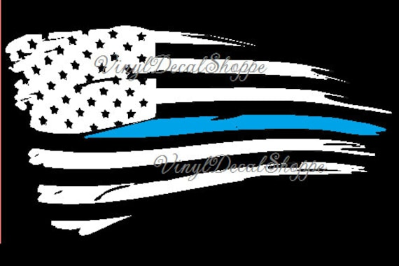 Thin Blue Line Decal Blue Line Flag Thin Blue Line Flag