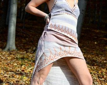Khadi Skirt, Fairy Skirt, Pocahontas-Skirt, long-short-skirt,  laced Skirt, Mini Skirt, printed skirt, Festival skirt, Hippie Skirt, tribal