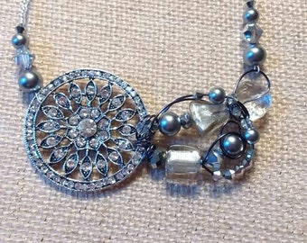 Vintage style crystal necklace
