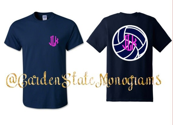 Volleyball sports woman s shirt monogram by