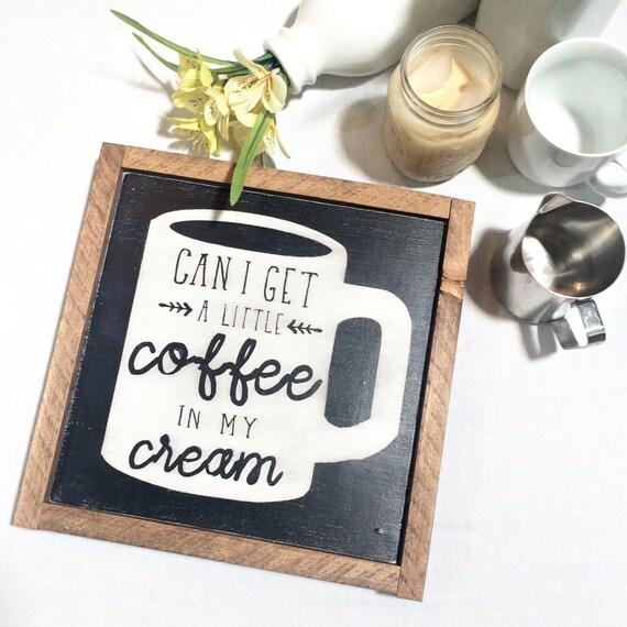 Coffee Wooden Sign Rustic Wall Decor Coffee Mug Coffee Cup