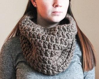 Chunky Crochet Cowl - Barley - The Wilson Cowl