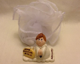 First Communion, Topper-cake communion in corn paste, Favor, favor Made in Florence