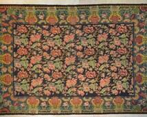 "KM21// 93""x138""-hand woven besarabian  vintage kilim,floral kilim,tapestry,bohemian home,eclectic,236cmX351cm"