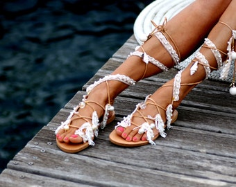 """Sandals """"Ever after"""" (handmade to order)"""
