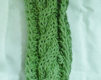 cabled cotton headband