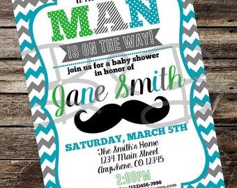 Little Man Baby Shower Invitation