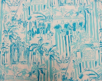 "1 Yard 36"" x 57"" New Lilly Pulitzer Cotton Poplin Fabric "" La Via Loca """