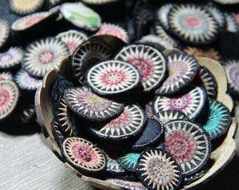 50 Pcs. mixed colors Hmong embroidery .