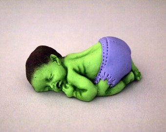Baby Hulk Fondant Cake Topper (MADE TO ORDER)