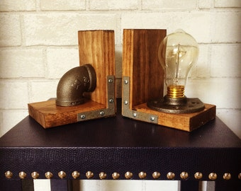 Industrial Style Bookends