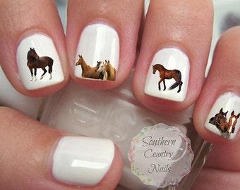 Horses Nail Art Decals
