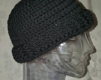 Hand Crocheted Male Winter Hat/Beanie