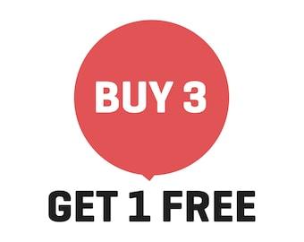 Sale, Buy 3 Get 1 Free, PrintsDigital
