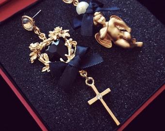 Angel Heart Gold Earring