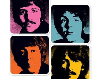Beatles Pop Art Coasters (Set of 4)