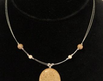 Ocean Jasper Double Strand Necklace