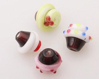 glazed bead ice cream glass beads sweet candy bead charm bracelet diy bracelets japanese style bead