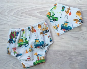Boy Nappy Cover & Dribble Bib Set - size 0