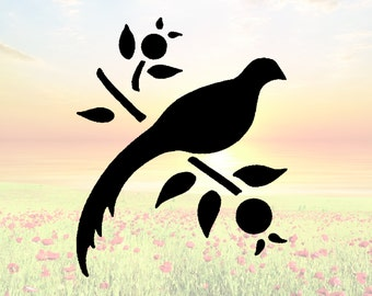 Bird Dove on Branch Stencil or Wall Decal DIY Project