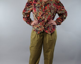 Vintage trousers with folds up