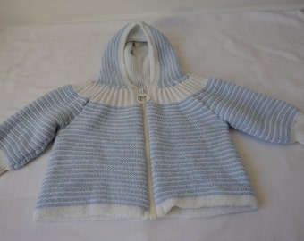 French vintage knitted babies / dolls cardigan / coat  (00459)