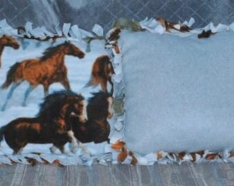 Wild Horse Tied Throw Pillow