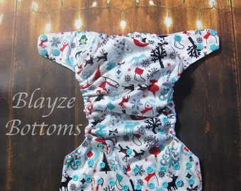 Christmas Winter Wonderland Sleigh Ride OS Pocket Diaper
