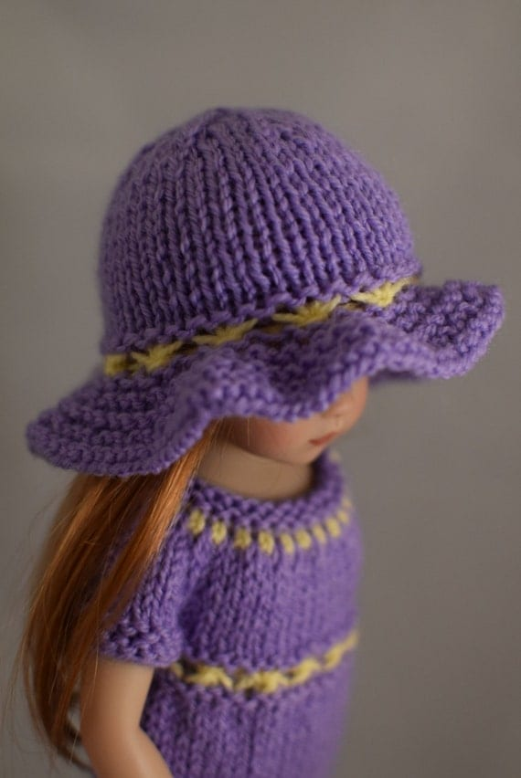 4. Dress & Hat - PDF Knitting Pattern for Dianna Effner 13