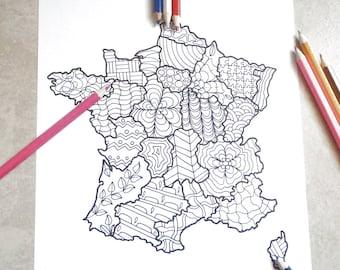 Kawaii alpaca lama pagina da colorare bambini adulti fairy kei - Mappa messico mappa da colorare pagina ...